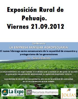 Conferencia la Empresa Familiar Agropecuaria en Pehuajo