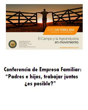 Conferencia de Empresa Familiar en Expo Rural Victoria 2012.
