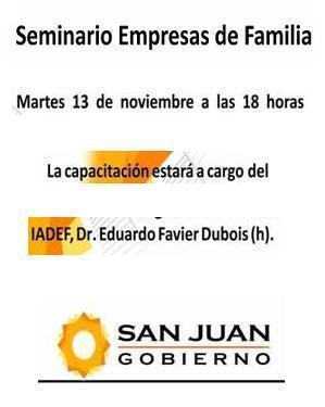 Seminario Empresas de Familia. San Juan.