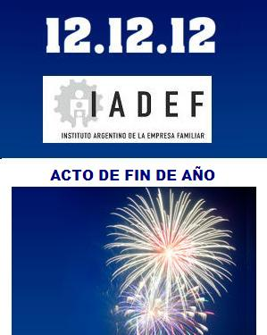 12.12.12 · Acto de Fin de Año del IADEF