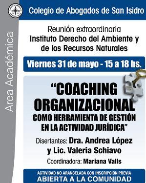 Coaching Organizacional como herramienta de Gestión en la Actividad Jurídica