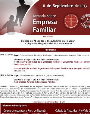 Jornada sobre Empresa Familiar en Neuquén · Cipolletti