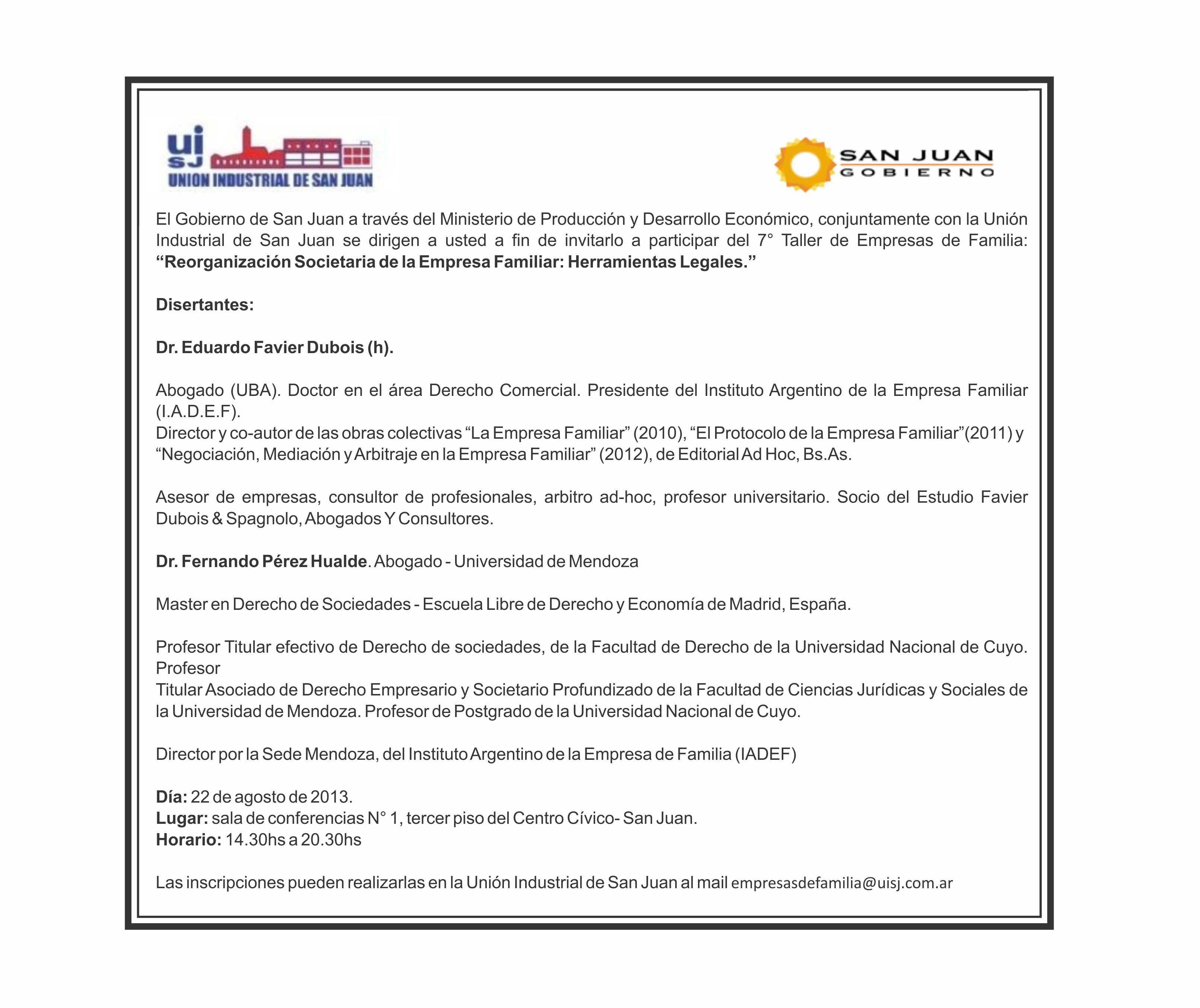 Presentación del Libro de Empresa Familiar · 10 de Octubre de 2013