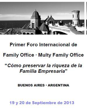 Primer Foro Internacional sobre Family Office y Multi Family Office