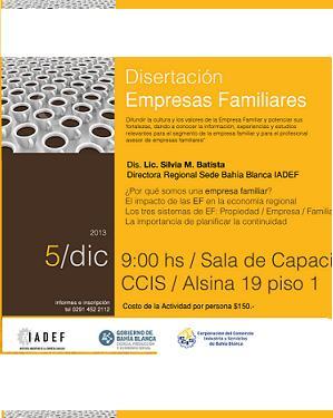 Disertación Empresa Familiar · Bahia Blanca