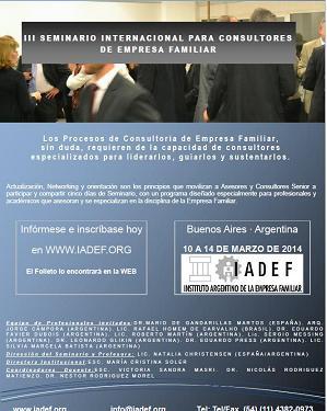 III Seminario Internacional para Consultores de Empresa Familiar