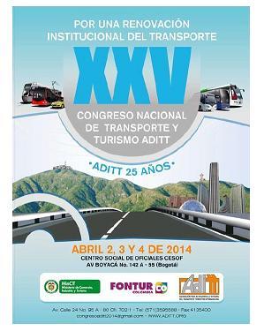 XXV Congreso Nacional de Transporte y Turismo, ADITT · Presencia IADEF en Colombia