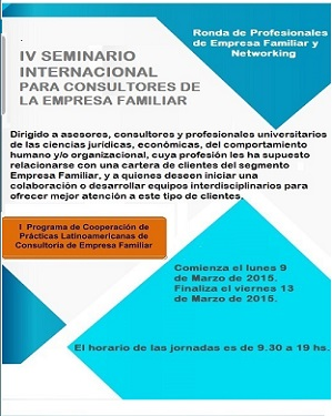 Flyer IV Seminario Internacional para Consultores de Empresa Familiar