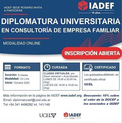 Diplomatura Universitaria en Consultoría de Empresas Familiares