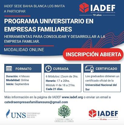Programa Universitario en Empresa de Familia