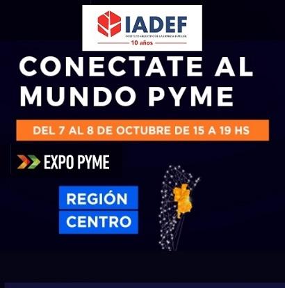 IADEF es partner institucional de ExpoPyme Virtual Región Centro 2020